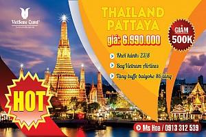 BANGKOK - PATTAYA 5N4Đ Bay Vietnam Airlines (Tặng Buffe Baiyoke 86 tầng)