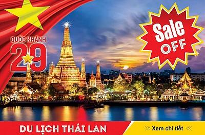 Chào Mừng Quốc Khánh 2/9 - Hành trình Bangkok - Pattaya 5N4Đ (Full option)