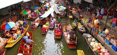Lênh đênh cùng chợ nổi Pattaya