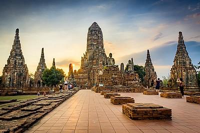Nét xưa cũ của thành cổ Ayutthaya Thái Lan