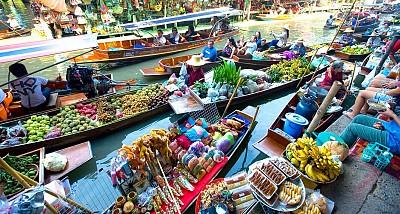 Thăm chợ nổi Damnoen Saduak thú vị ở Thái Lan