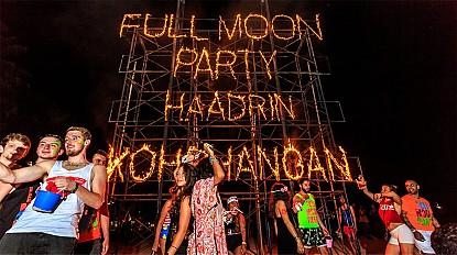 Bữa tiệc lớn nhất Đông Nam Á hội trăng tròn trên đảo Koh Phangan, Thái Lan [Fullmoon party]
