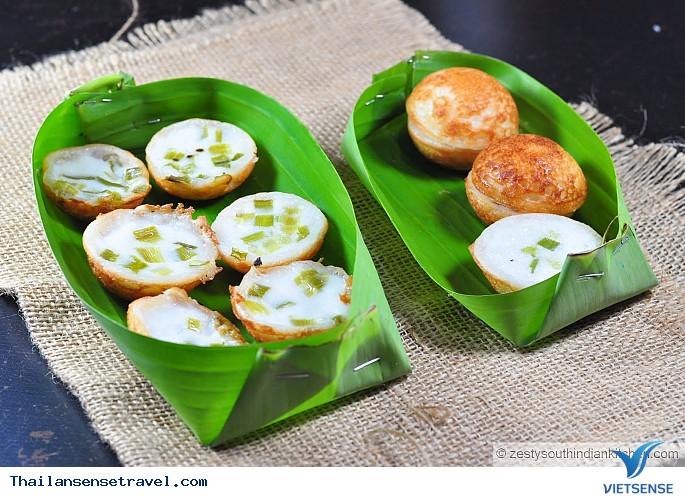 Món Bánh Dừa (Khanom krok)