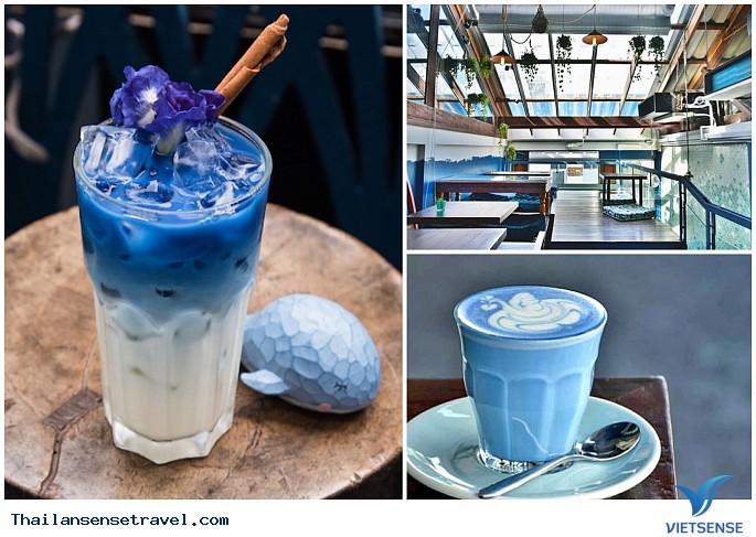 Quán cafe màu xanh nước biển độc đáo ở Bangkok - Ảnh 2
