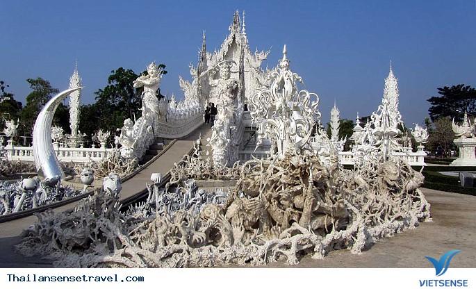 Viếng thăm ngôi chùa trắng tại Thái Lan. - Ảnh 1