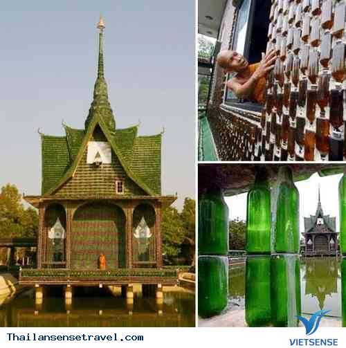 Du lịch Thái Lan: Ngắm ngôi chùa bằng vỏ chai độc đáo ở Thái Lan - Ảnh 1