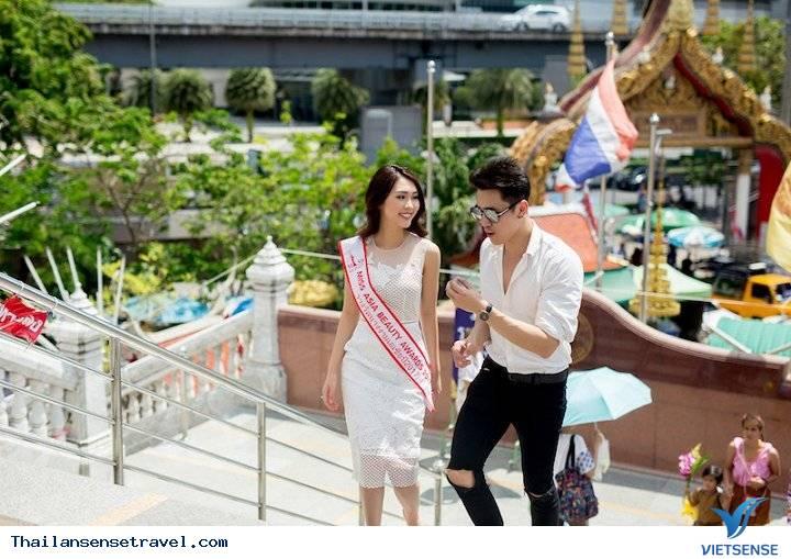 Hot Girl Tường Linh được trai đẹp Thái Lan dẫn đi tham quan Thái Lan - Ảnh 7