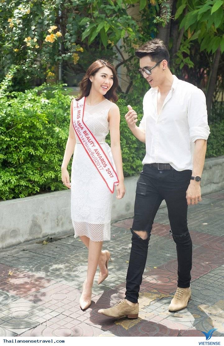 Hot Girl Tường Linh được trai đẹp Thái Lan dẫn đi tham quan Thái Lan - Ảnh 3
