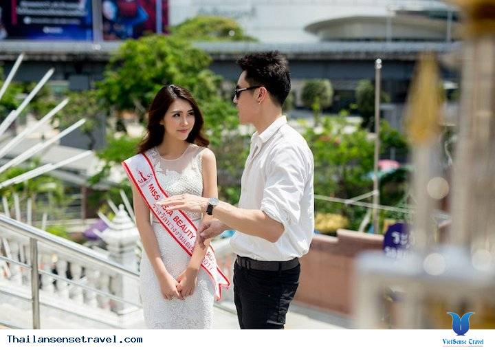 Hot Girl Tường Linh được trai đẹp Thái Lan dẫn đi tham quan Thái Lan - Ảnh 8