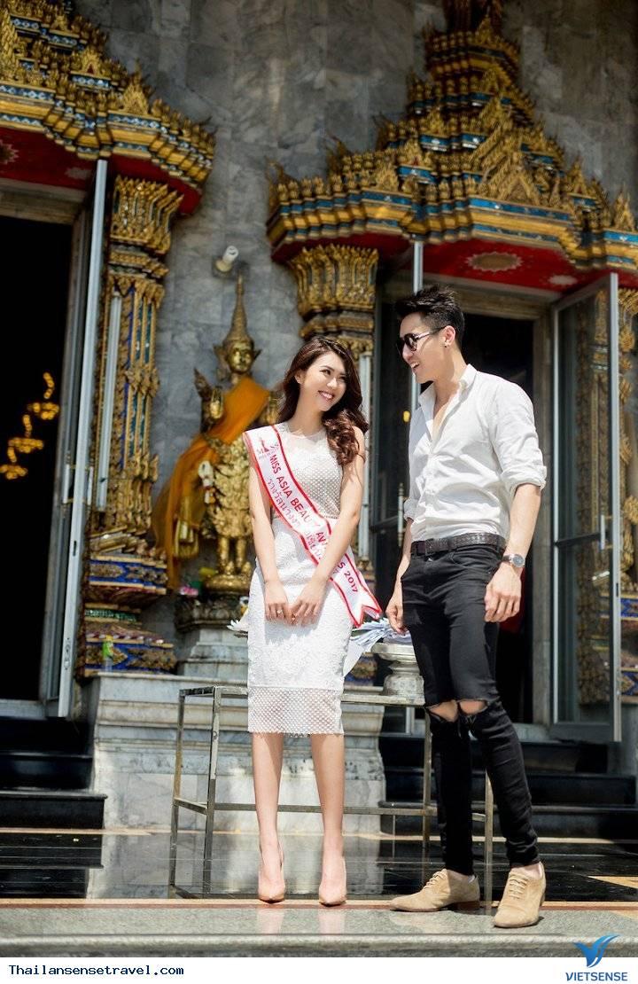 Hot Girl Tường Linh được trai đẹp Thái Lan dẫn đi tham quan Thái Lan - Ảnh 6