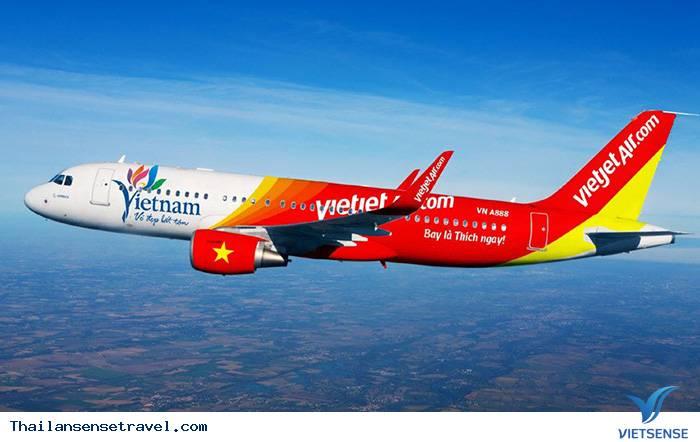 Chọn hãng hàng không đi Thái Lan: VietJet Air
