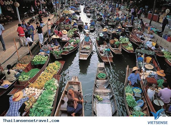 Thăm chợ nổi Damnoen Saduak thú vị ở Thái Lan - Ảnh 1